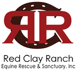 Red Clay Ranch logo / horseshoe with two Rs